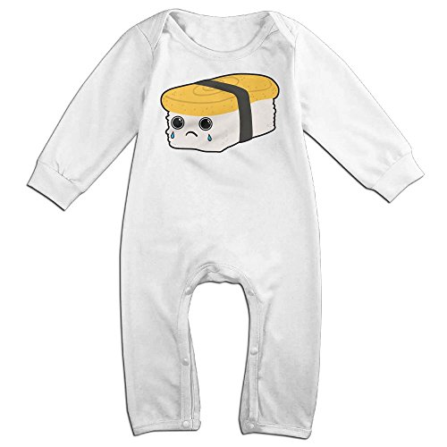 Baby Infant Romper Sushi Crying Long Sleeve Jumpsuit Costume White 24 Months - Toddler Burrito Costume