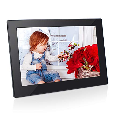 - Digital Photo Frame 8 Inch 16:9 IPS Display Electronic Picture Frame 1080P High Resolution Advertising Machine with Video Player, Calendar, Alarm, Auto Power ON/Off, Remote Control [Jimwey]
