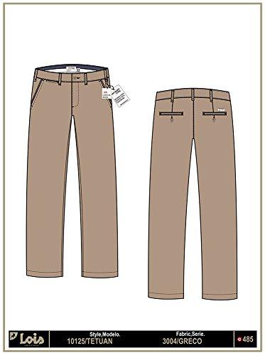 LOIS - Pantalon Tetuan Greco, Hombre, Color Marron, Talla 28