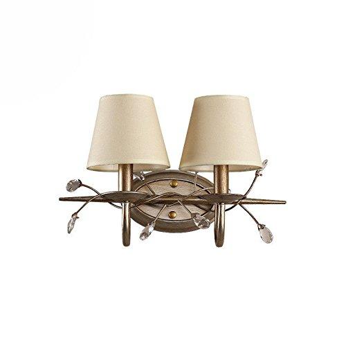 Lampada da parete Semplice creativo americano panno copertura di cristallo lampada da comodino lampada da parete camera da letto decorazione della parete lampada da parete