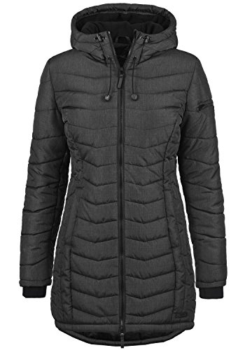 Blend She Nelly Damen Steppmantel Wintermantel Winterjacke mit Gefütterter Kapuze Black (20100) H28zS
