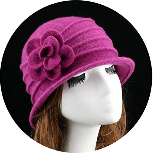 Felted Wool Hat Patterns - Wool Hat Autumn Winter Middle-Aged Soft Hat Tide Dome Felted Mummy,6