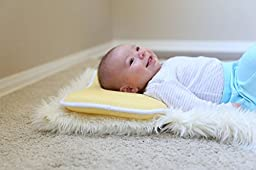 Bouffi Breathable 3D Mesh Baby Pillow, Yellow, 0-2 Years