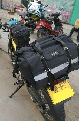 Aventura Impermeable Robusta Bolsa Saco de Equipaje de la Motocicleta Universal Touring Bolsa Saco IP5 60L Negro Lonely Biker