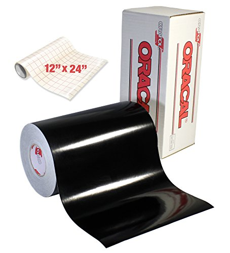 (ORACAL 651 Gloss Black Self-Adhesive Craft Vinyl Roll (12