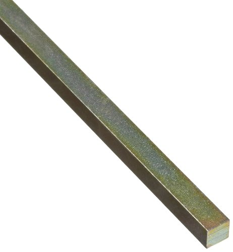 (Steel Key Stock, Gold Dichromate Finish, Standard Tolerance, Metric, 6 mm Thickness, 6 mm Width, 12