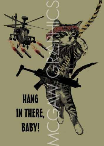 Hang In There Rambo Cat By Jason Laurits Art Print
