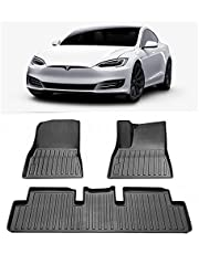 Perfect Fit Floor Mat for Tesla Model 3 2019-2021 3D Heavy Duty All Weather Car Mat Floor Liner Complete Set 3 Piece Set Front Rear 2 Row Seat