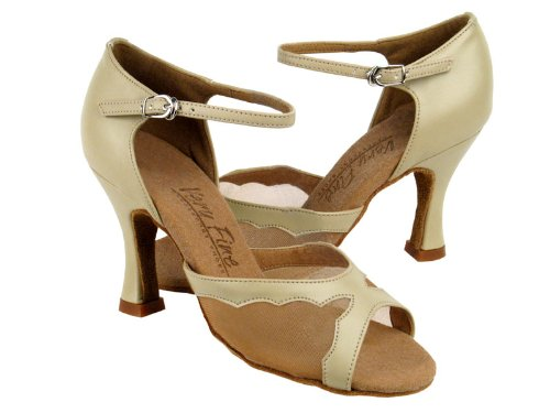 Ladies Women Ballroom Dance Shoes from Very Fine C1616 Beige Leather /& Flesh Mesh 2.5 Heel