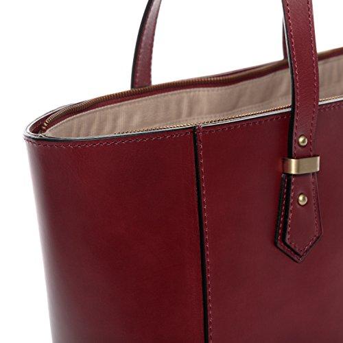 amp; a SID borsa pelle Borsa Rosso VAIN marrone mano a spalla Borsa TRISH Zwwfd8