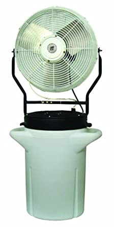 """TPI Corporation PM-18S Self Contained Power Mister, 10 Gallon Cooler, Single Phase, 18"""" Diameter, 120 Volt"""
