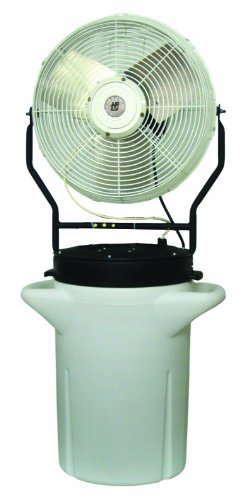 "TPI Corporation PM-18S Self Contained Power Mister, 10 Gallon Cooler, Single Phase, 18"" Diameter, 120 Volt"