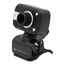 Zebronics Zeb-Crystal Clear Web Camera with 3P Lens,Built-in Microphone,Auto White Balance,Night Vision and Manual…