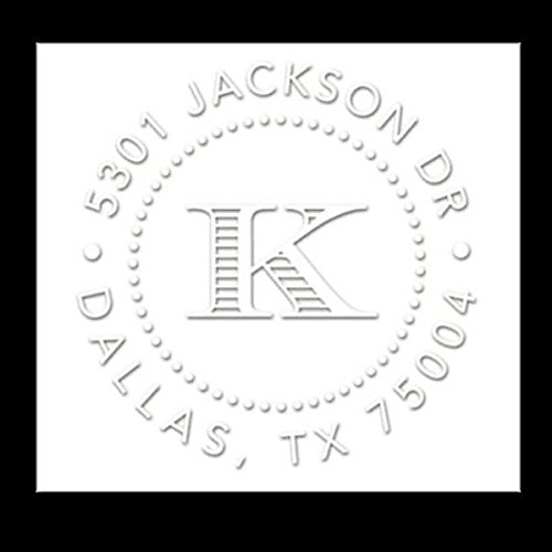 Custom Embosser Seal Hand Held Style- 77 Shiny EZ-Seal Round Personal Decorative Address Custom Embosser