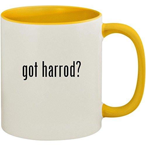 (got harrod? - 11oz Ceramic Colored Inside and Handle Coffee Mug Cup, Yellow)