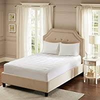 Sleep Philosophy Smart Cool Microfiber Mattress Protector Coolmax Bed Cover Queen White