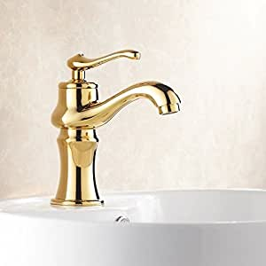 Zq Contemporary Vintage Copper Wash Basin Tap Bathroom Faucets