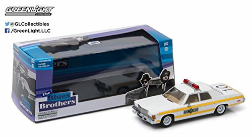 GreenLight Collectibles 1980 Blues Brothers 1977 Dodge Royal Monaco Illinois State Police Vehicle (1:43 - Brothers Dodge Car