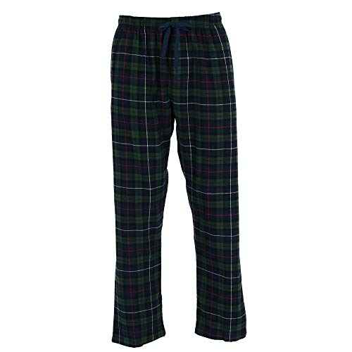 Hanes Men's Big and Tall Flannel Lounge Pajama Pants, 5X, Navy ()