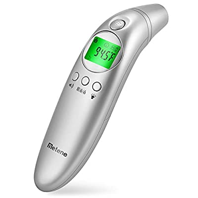 Metene Forehead and Ear Digital Thermometer,Non-Contact Infrared Thermometer with Easy Accuracy