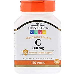 21st Century, Vitamin C, Prolonged Release, 500 mg, 110 Tablets