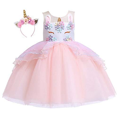 Flower Child Halloween Costumes Ideas (Kokowaii Fancy Girls Unicorn Pageant Party Dress Tutu)