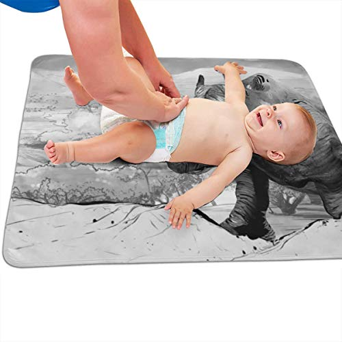 V5DGFJH.B Baby Portable Diaper Changing Pad South Africa Rhinoceros Urinary Pad Baby Changing Mat 31.5