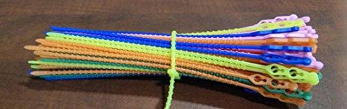 80e0e01baeb3 total TIS 003 Reusable Beaded Plastic Knot Type Cable Tie (100 Pieces Pack)