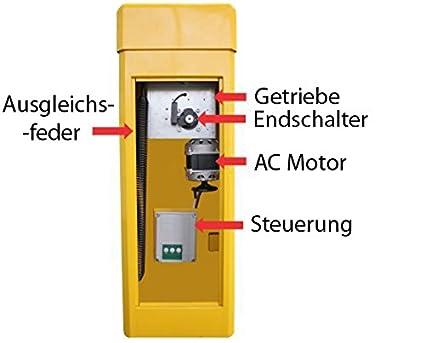 Automática Barrera Anlage, barrera eléctrico con barreras brazo 4,5 m: Amazon.es: Bricolaje y herramientas