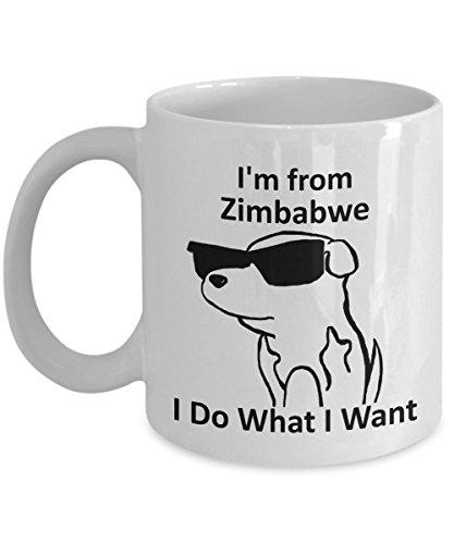 Zimbabwe Pride Coffee Mug 11oz White Gift Cup