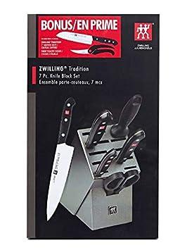 Image Unavailable Not Available For Colour Zwilling JAHenckels Tradition 7 Piece Knife Block Set Bonus Santoku