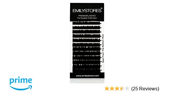 d6c12ec7851 Amazon.com : EMILYSTORES Eyelash Extensions 100% Real Siberian Mink Fur  Lashes C Curl Mixed Size 8mm 9mm 10mm 12mm 14mm Long Assort Mixed In One  Tray : ...