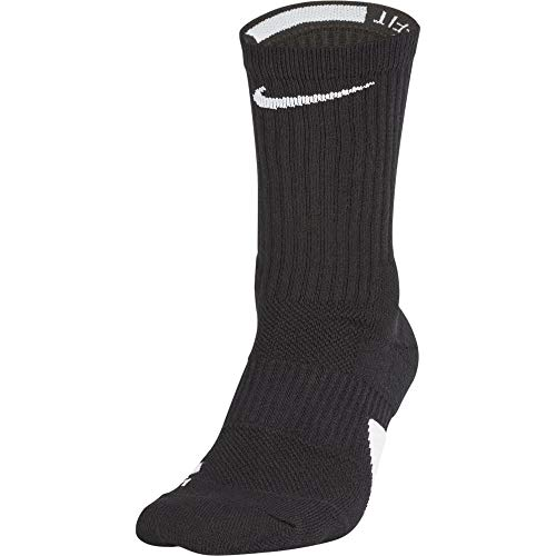 Nike Elite Basketball Crew Socks Black/White Size Medium
