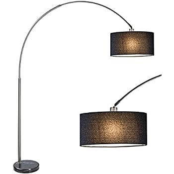 Sh Lighting 6938bk Brush Steel Arching Floor Lamp With
