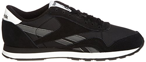 Reebok Classic Nylon R13 Herren Sneakers Schwarz (Black/Rivet Grey/White)