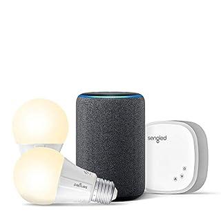 Echo (3rd Gen) Charcoal Bundle with Sengled 2-pack Smart Bulb starter kit