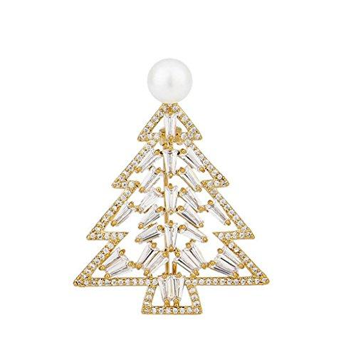 Brosche Kleidung Brosche Ideal Gold Weihnachtsbaum Weihnachten ...