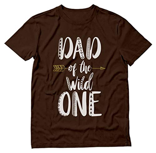 Tstars - Dad of The Wild One Funny 1st Birthday T-Shirt Small Black