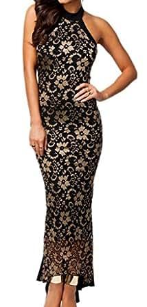 Bigood - Vestido - vestido - Básico - Sin mangas - para mujer negro 36