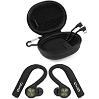 OXID AudioBuds True Wireless Bluetooth Headphones - Charging & Protective Case - 4.5 Hours Playtime, Touch Sensitive Controls, Phone Call & Voice Assistant Capability, HD Sound Quality (Black)