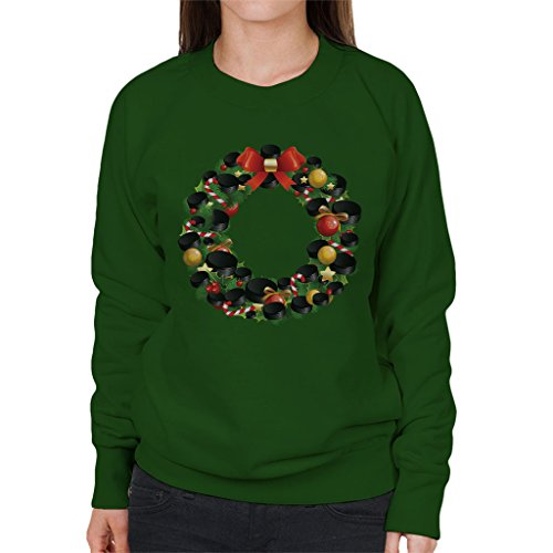 Hockey Wreath (Coto7 Christmas Ice Hockey Puck Wreath Women's Sweatshirt)