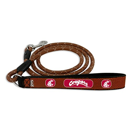 GameWear NCAA Washington State Cougars Football Leather Rope Leash, Medium, ()