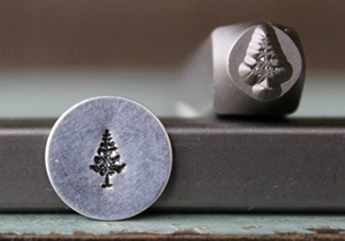 (Brand New 6mm Pine Tree Metal Punch Design Stamp - Supply Guy -)