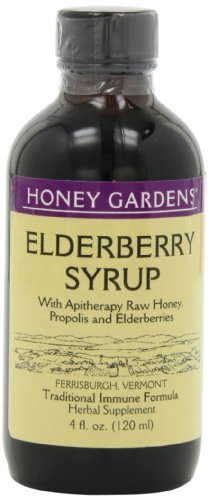 (Honey Gardens Elderberry Syrup, 4-Ounce (Pack of 2))