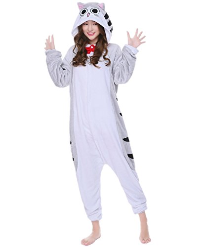 kxry Animal Kigurumi Cosplay Costume Adult Unisex Pajamas Onesie (Medium, Chi's Cat)