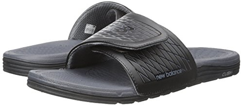 Black Men's Cush Sandal Slide Balance New grey 5qPwnUXxA