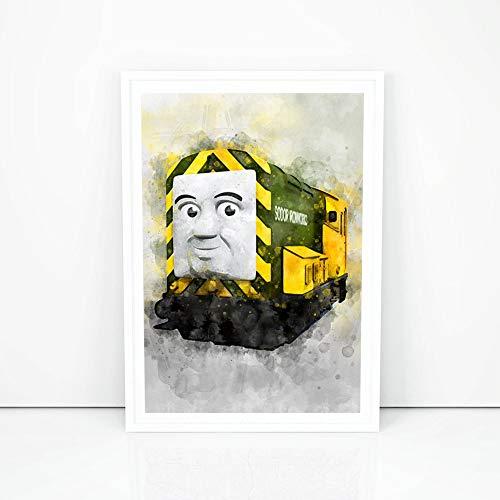 (Thomas The Train Print, Thomas The Tank Engine Wall Poster, The Train Nursery Wall Decor, Gift Ideas for Kids, Train Boys Room Decor)