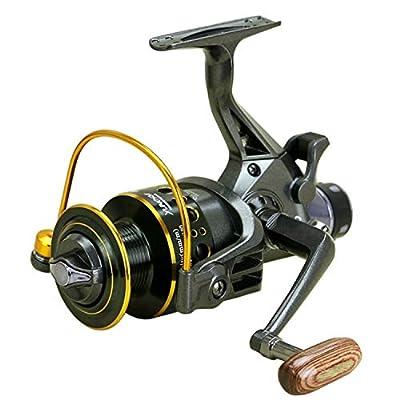 Unitedheart Fishing Reels,YUMOSHI Fishing Reel 10+1 Ball Bearings Front Rear Dual Brake System Metal Coil Bait Casting Fishing Reel for Outdoor Fishing