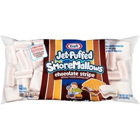 Jet-Puffed S'moreMallows Chocolate Stripe Marshmallows