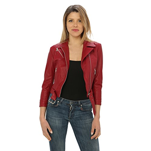 Made Piel Italy Jacket Clavo De In Mujer Genuina Para nqHYHwIS